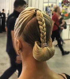 """177 Likes, 2 Comments - Алина Воронцова (@alishavorontsova_) on Instagram: """"Ballroom hairstyle for @victoria_terekhova_ by me @alishavorontsova_  Image-studio @artecreo …"""""""