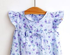 LIBERTY Style Girl Blouse Tunic Top Shirt sewing by PUPERITA $ (like the bow and small pleats)