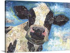 Lori Siebert Poster Print Wall Art Print entitled Cow Collage, None Magazine Collage, Magazine Wall Art, Paper Mosaic, Mosaic Art, Wall Art Prints, Canvas Prints, Big Canvas, Framed Prints, Lino Prints