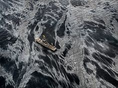 Edward Burtynsky, Oil Spill #2,  Discoverer Enterprise, Gulf of Mexico, May 11, 2010 - http://www.edwardburtynsky.com