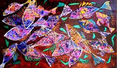Veritable explosion of color by Stjepko Mamic - Art People Gallery Glow Effect, Contemporary Paintings, Graphic Design, Quilts, Gallery, Art Work, Artist, Mixed Media, Quilt