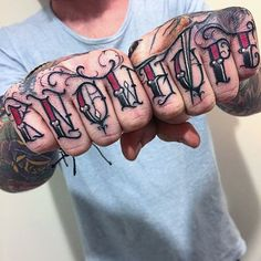 know-hope-red-knuckle-lettering-font-tattoo-for-men.jpg (600×600)