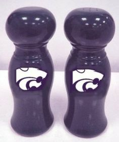 Kansas State Wildcats Salt/Pepper Shaker by Traditions Artglass Studios. $38.95. Spice up your kitchen with this beautiful set!