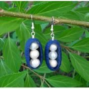 Silk Cocoon Earrings with...