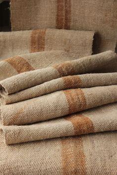Grains sack bolt homespun hemp table runner fabric 4.1yds ~PRIMITIVE rustic   www.textiletrunk.com