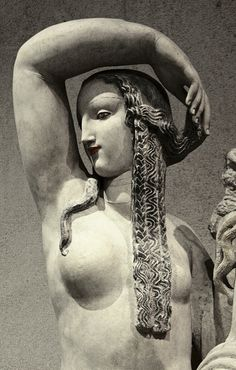 "Detail of ""Spring"" by Alfred-Auguste Janniot, after 1919. Limestone. Lisbon: Museu Calouste Gulbenkian"