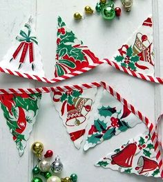 vintage fabric banner vintage christmas crafts christmas sewing retro christmas vintage crafts