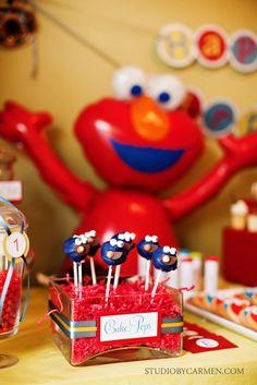 "Photo 1 of 24: Sesame Street inspired / Birthday ""Elmo & Cookie Monster 1st Birthday""   Catch My Party"