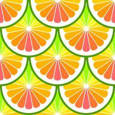 citrus scale rainbow fabric by sef on Spoonflower - custom fabric