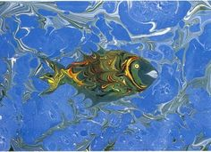 ebru paper   ... marbled paintings Saralart , Art of Ebru: Art of EBRU and Ahmet SARAL