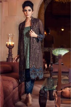 MBROIDERED Fabric - Brown (BD-705) - Maria.B