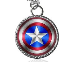 Captain America Necklace Avengers Super Hero by Allthingsimages