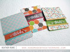 Handmade by Heather Ruwe: SSS November Card Kit- Thankful Heart!