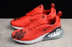 NIKEiD Air Max 270 iD Red Black-White Men s Shoes BQ0742-995 7f962610e