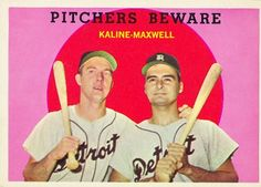 Pitchers Beware Card 1959 - Topps  Card Number: 34