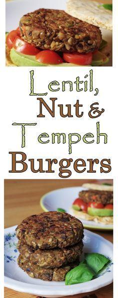 Lentil, Nut & Tempeh Burgers |Euphoric Vegan