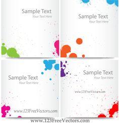 Colorful Ink Splash Banner Free Vector Images