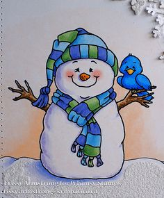 I am pleased to use one of my new releases from Whimsy Stamps. Simple Christmas Cards, Christmas Rock, Felt Christmas, Christmas Snowman, Watercolor Christmas Cards, Christmas Drawing, Christmas Paintings, Pictures Of Snowmen, Snowman Images