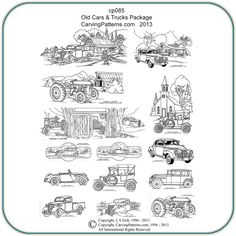 free pyrography patterns | old cars trucks patterns $ 10 95 exclusive designs by lora s irish 11 ...