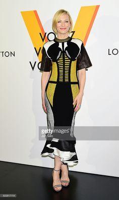 Actress Cate Blanchett attends the Louis Vuitton Exhibition 'Volez, Voguez, Voyagez' on April 21, 2016 in Tokyo, Japan.