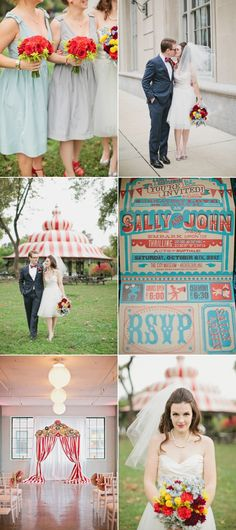 Fantastic circus themed wedding.
