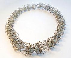 KAREN ANN DICKEN-UK  Geo Necklace   Materials: Steel, Cubic Zirconia, Citrine, Garnet