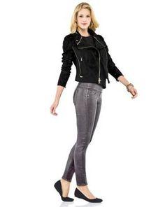 Spanx jeans feature faux front pockets to help eliminate bulk.