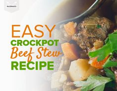 Nothing says comfort food like our quick and easy Paleo Crockpot Beef Stew recipe. Its rich hearty and perfect for cold winter nights and easy to prepare. Beef Stew Crockpot Easy, Paleo Crockpot Recipes, Slow Cooker Recipes, Crockpot Meals, Korma, Biryani, Paleo Menu, Paleo Diet, Eating Paleo