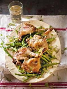 Confit duck with green beans