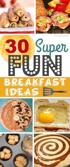 A ton of unique breakfast recipes that you have probably never tried! Most of these are quick and easy, too! Kids and adults love these, and the muffin tin ones are perfect for a crowd. | Listotic.com