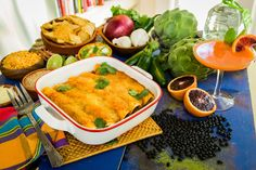 A flavorful dish that's not to spicy! Artichoke Enchiladas by Chef Christy Vega! Don't miss Home & Family weekdays at 10a/9c on Hallmark Channel!