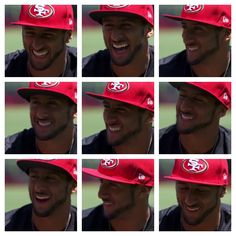 Kap being interviewed about his mega contract extension! All smiles from this fine man and no surprises there! ❤❤❤ #kaepernick #niners