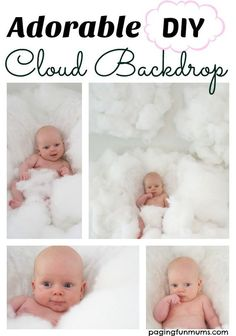 Adorable DIY Cloud Backdrop. Make your own adorable photography backdrops for a photoshoot or a party!
