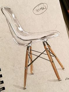 Architectural sketches 290904457176736618 - Source by petitetop Interior Design Renderings, Interior Rendering, Interior Sketch, Drawing Interior, Interior Architecture Drawing, Deco Design, Design Art, Chair Drawing, Drawing Furniture