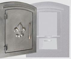 Locking Column Mailbox (fleur de lis) Bronze (stucco column purchased seperately)