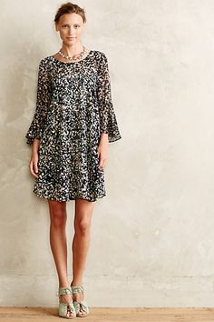 droplets dress - swingy boho dress, so fun with boots for fall! #anthrofave