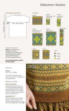 "Magazine ""The Knitter"" 2019 (uden annoncer). Fair Isle Knitting Patterns, Fair Isle Pattern, Knitting Charts, Sweater Knitting Patterns, Knitting Designs, Knit Patterns, Free Knitting, Knitting Projects, Foto Zoom"