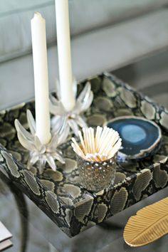 DIY Snakeskin tray