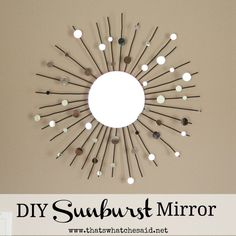 Create a stunning sunburst mirror from a candle holder for a fraction of the price of the retail stores with my simple tutorial!