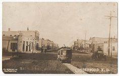 Lidgerwood ND North Dakota 1912 Trolley Car Street Scene RPPC | eBay