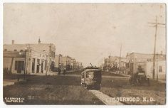 Lidgerwood ND North Dakota 1912 Trolley Car Street Scene RPPC | eBay