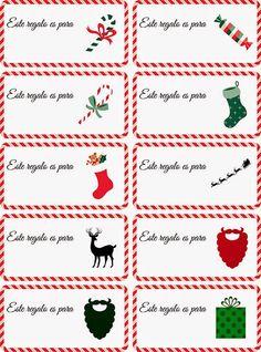 Pequeñas Personitas: Etiquetas navideñas para los regalos