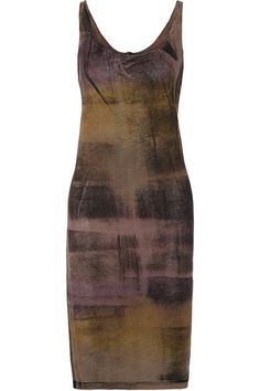 Raquel Allegra - Tie-dyed Stretch Cotton-blend Jersey Dress - Brown - 3