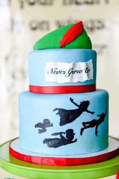 Dreaming of a birthday party where the elements are modern and hip and you never have to grow up? Kara's Party Ideas presents this Neverland Birthday Party! Boys 18th Birthday Cake, Twin Birthday, First Birthday Parties, Birthday Cakes, Birthday Ideas, Peter Pan Cakes, Peter Pan Party, First Communion Cakes, Peter Pan And Tinkerbell