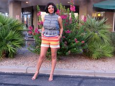 Prints, Shorts, Gap blouse, Peplum, Multi-colored, Short hair http://risingcolors.blogspot.in/2013/08/share-in-style-short-story.html