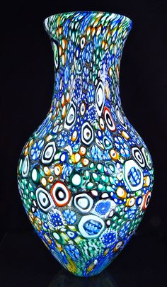 Crazy Quilt Stargown murrini vessel 2016 by Michael Egan found on Artfulhome.com