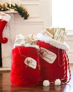 Red Santa Bag | Balsam Hill #mybalsamhillhome
