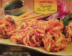 If you like fritters or onion rings, you might find yourself liking Trader Joe's Vegetable Birds Nests. A full review follows.