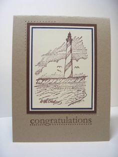 Coast Congrats by Pandora Spocks - Cards and Paper Crafts at Splitcoaststampers