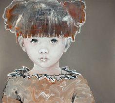 Woonbeurs okt 2013 by Edith Snoek Face Art, Art Faces, Pretty Art, Portrait Art, Contemporary Artists, Mixed Media Art, Painting Inspiration, Textile Art, Art For Kids